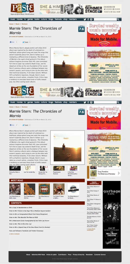 Marnie Stern: The Chronicles of Marnia :: Music :: Reviews :: Paste