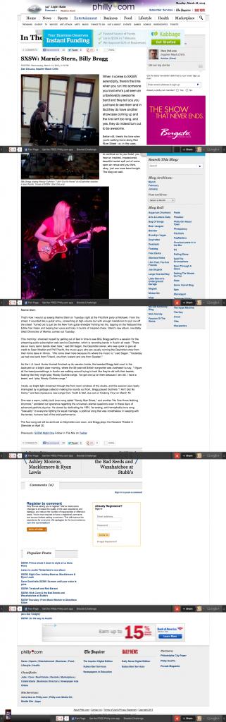 SXSW: Marnie Stern, Billy Bragg
